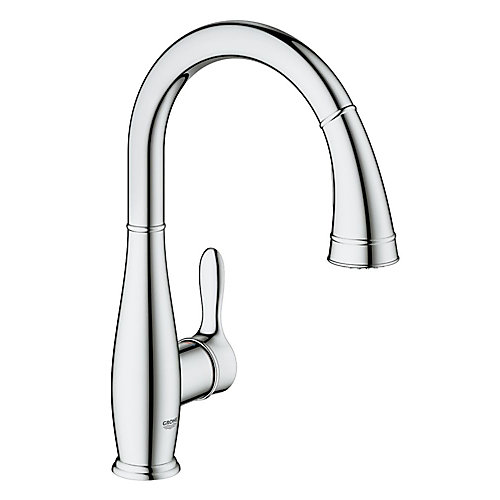 Parkfield Pull-Down Sprayer Kitchen Faucet with Dual Spray in GROHE StarLight Chrome finish