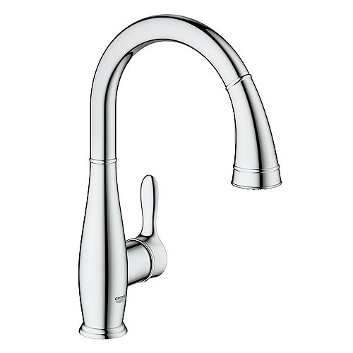 GROHE Parkfield Pull-Down Sprayer Kitchen Faucet with Dual Spray in GROHE StarLight Chrome finish