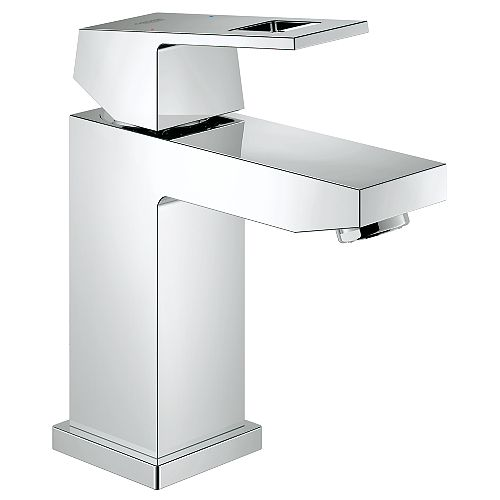 GROHE Eurocube Single Hole Single-Handle Low Arc 1.2 GPM Bathroom Faucet in StarLight Chrome