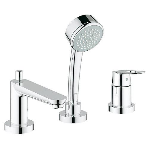 BauLoop Single-Handle Deck-Mount Roman Tub Faucet in StarLight Chrome