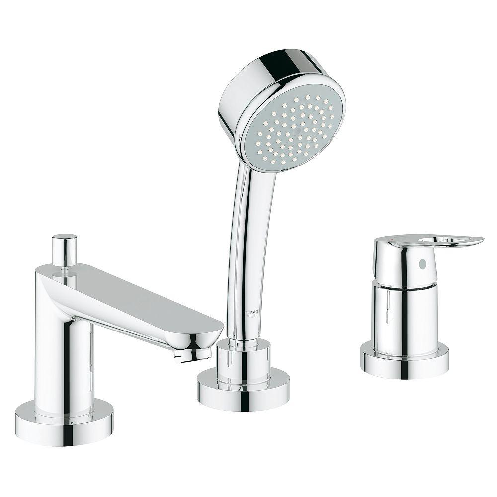 GROHE Robinet de baignoire romaine à poignée unique BauLoop en chrome StarLight (robinet non inclus)