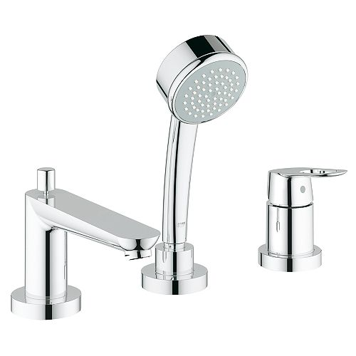 BauLoop Single-Handle Deck-Mount Roman Tub Faucet in StarLight Chrome