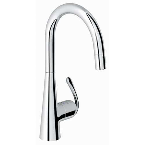 Ladylux³ Pro Main Sink Single-Handle Pull-Down Sprayer Kitchen Faucet in Starlight Chrome