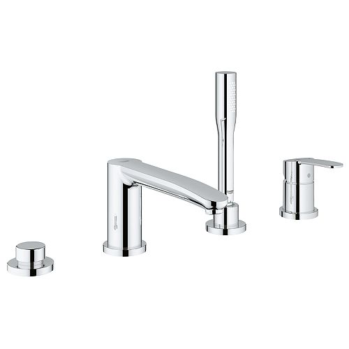 GROHE Eurostyle Cosmopolitan Single Handle Roman Tub Filler with Personal Hand Shower in StarLight Chrome