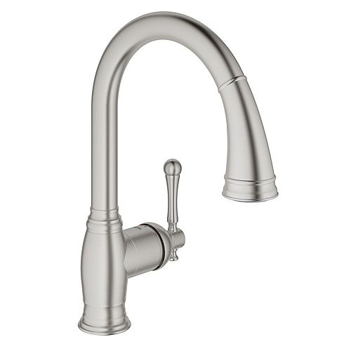 Bridgeford Single-Handle Pull-Down Sprayer Kitchen Faucet in SuperSteel InfinityFinish