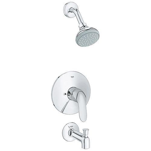 Agira Pressure Balance Value Combinaison douche/tubes en chrome (robinet vendu séparément)