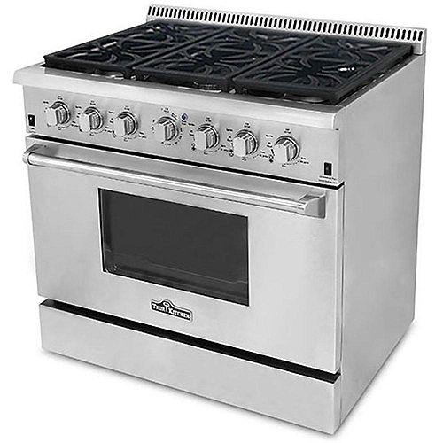 """Thor Kitchen Cuisinière au gaz autoportante de 36"""""""