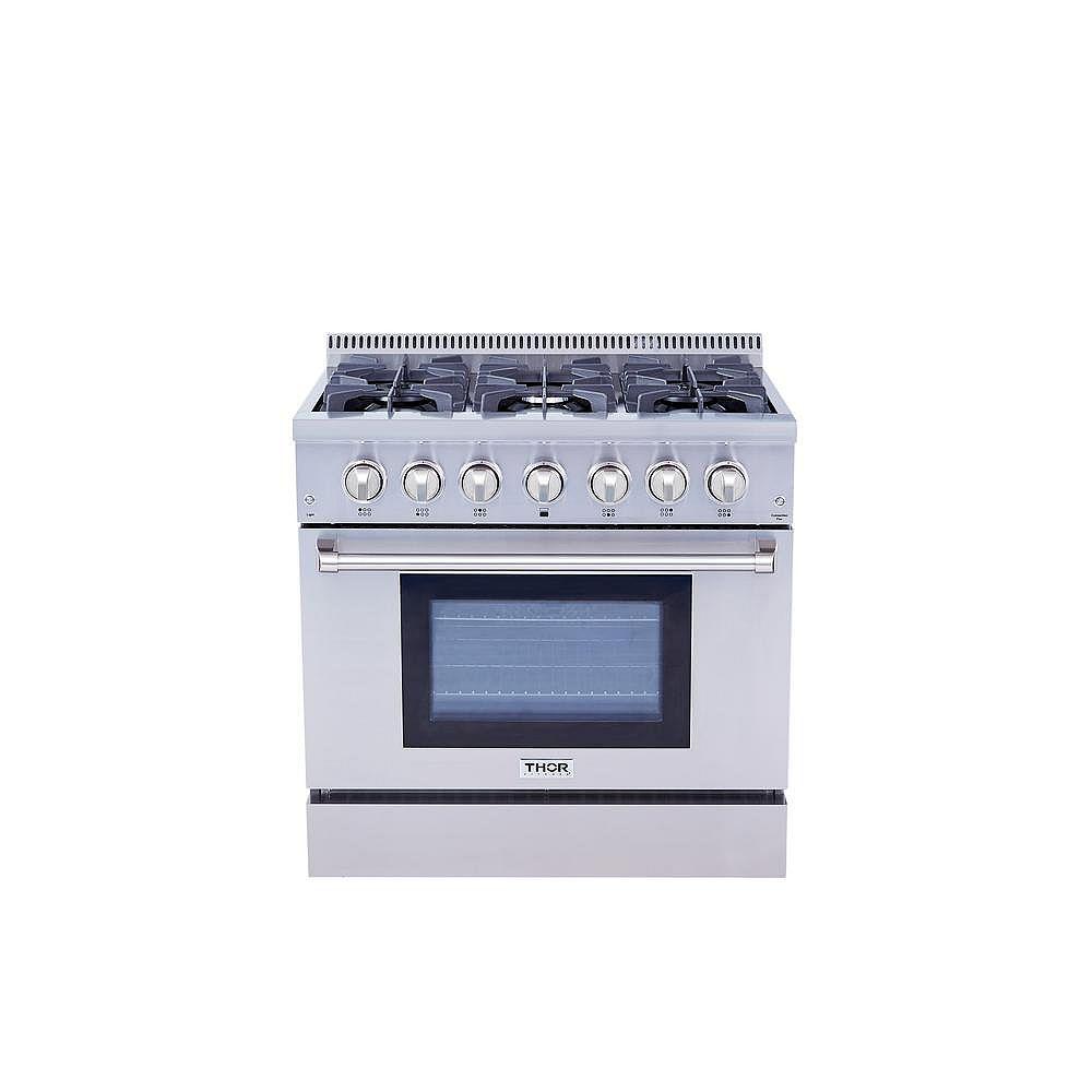 Thor Kitchen 36 inch Freestanding Dual Fuel Range