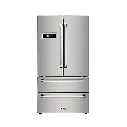 Thor Kitchen 36 inch 4-Door Counter Depth French Door Refrigerator