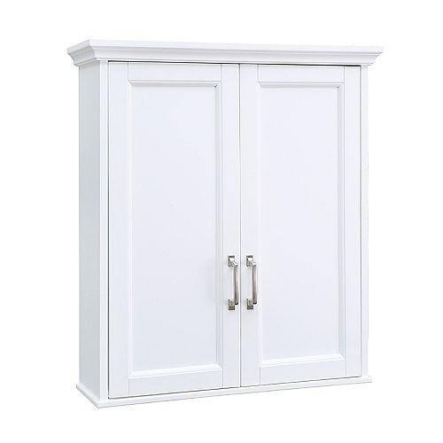 Ashburn 23.5 inch x 28 inch Wall Cabinet in White