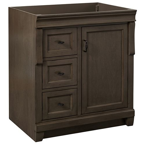 Foremost Naples 30in Vanity Cabinet in Antique Walnut