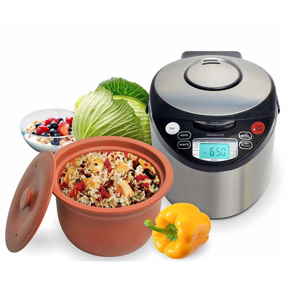 VitaClay Multi cuiseur intelligent organique avec pot en argile à haute température de Vitaclay®.
