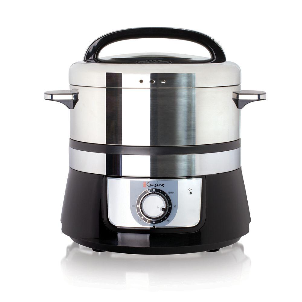 Euro Cuisine Cuiseur à vapeur électrique - 5L
