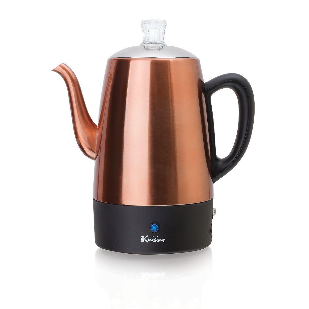 Euro Cuisine Percolateur à café électrique - 8 tasses