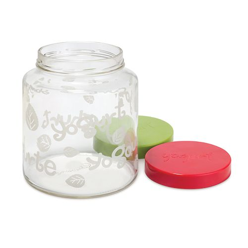 2Qt Glass Jar with 2 lids