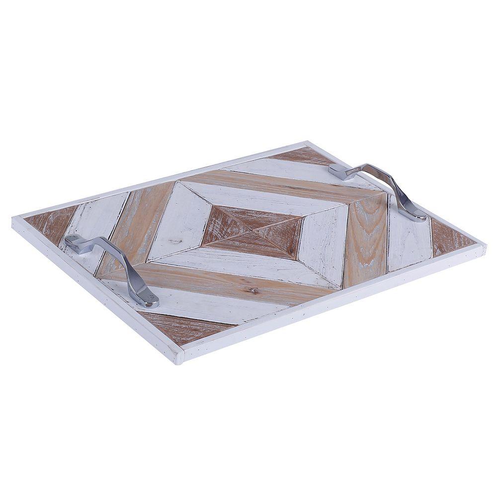 Art Maison Canada 16 x 11 x 2 contours, plateau en bois avec motif