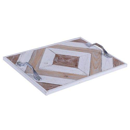 Art Maison Canada 16x11x2 OUTLINES, Wooden Tray with Pattern