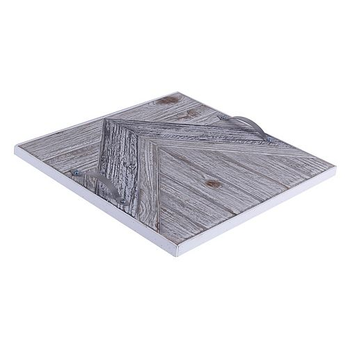 14.5x14.5x1.5 CHEVRON, Wooden Tray with Pattern