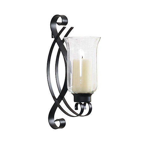 4.5x8x14 SWIRL, Metal with Glass Wall Sconce