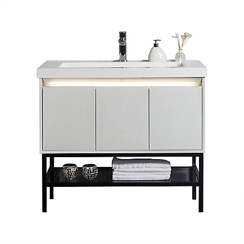 Ella 40 inch Single Freestanding Modern Bathroom Vanity