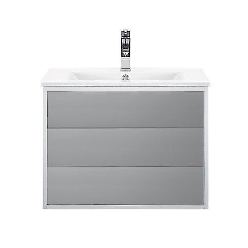 Emma 23 inch Single Wall-Mounted Modern Bathroom Vanity