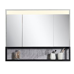 Ella 40 inch x 32 inch Mirror Cabinet with LED Light and Integrated Shelf