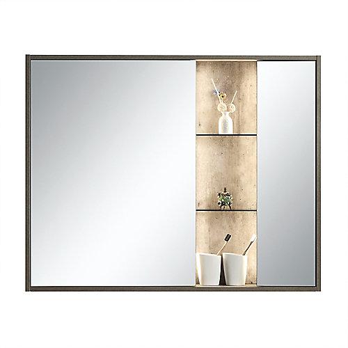Armoire à miroir Harlie 40 po. x 32 po. avec éclairage LED et rayonnage intégré