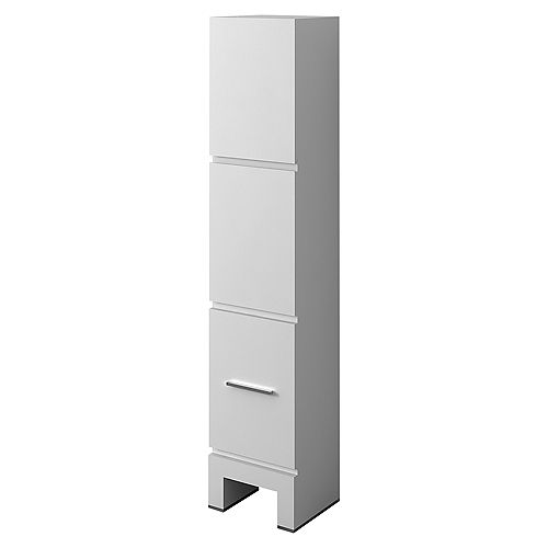 Sloan 14 inch Freestanding Modern White Bathroom Cabinet