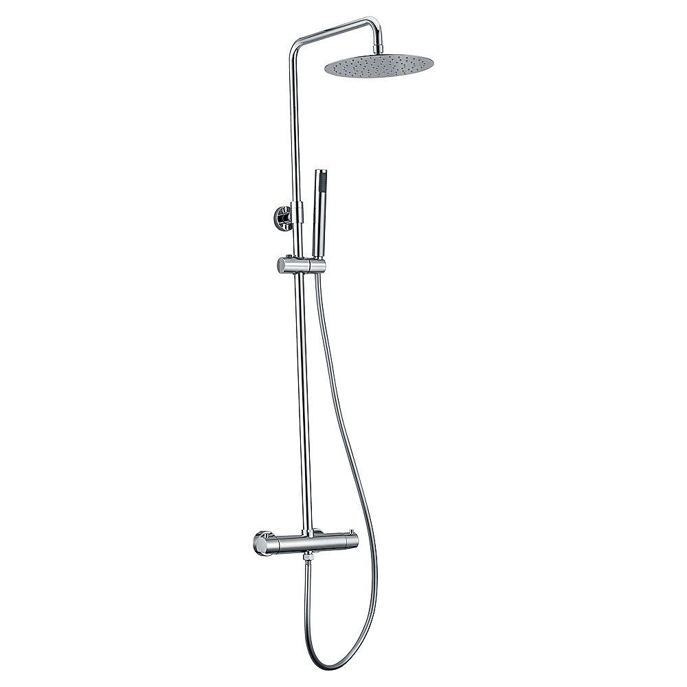 Jade Bath Système de douche Pippa avec pomme de douche et douchette à main, fini chrome poli