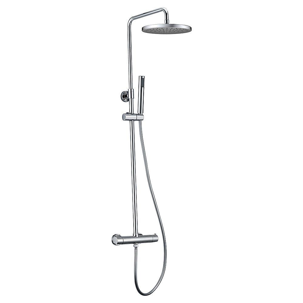 Jade Bath Système de douche Pippa II avec pomme de douche et douchette à main, fini chrome poli