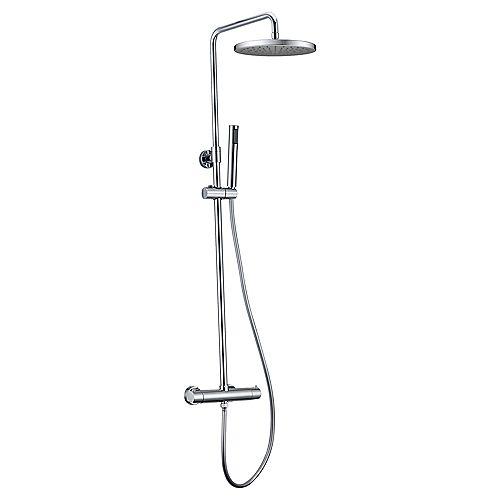 Système de douche Pippa II avec pomme de douche et douchette à main, fini chrome poli