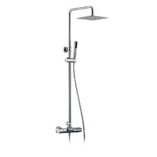 Système de douche Jacki avec douchette à main et testeur de température, fini chromé