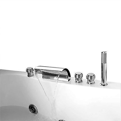 Celeste Chrome Deck-Mounted Bathtub Faucet