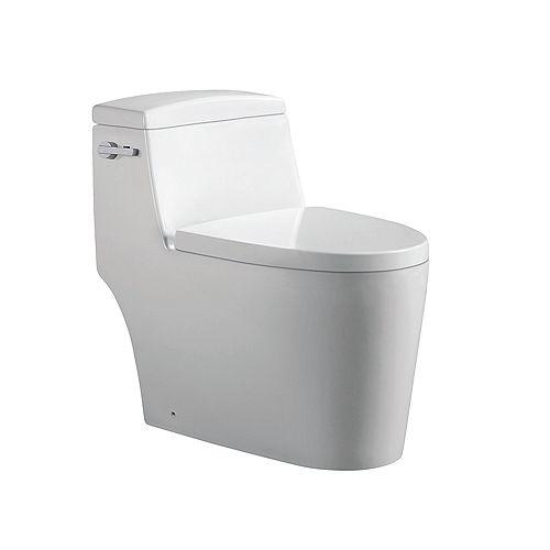 Joelle 1-Piece 0.88/1.2 GPF Dual Side-Flush Elongated Toilet in White
