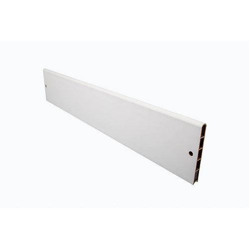 Planches de jardin surélevées en composite blanc classique - profil droit de 1 po
