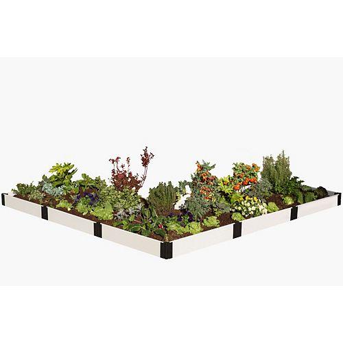 Lit de jardin classique surélevé blanc ft.L ft. 12 ft.x 12 ft. x 8 po