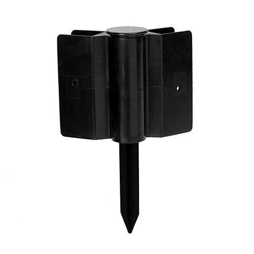 Supports de lit de jardin surélevés - Support d ft.empilage noir de 1 poSnap-on - 8 po de hauteur