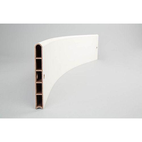 Planches de jardin surélevées en composite blanc classique - profil courbé 1 po