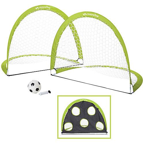 Ensemble De 2 Buts Et Ballon De Soccer Portatif