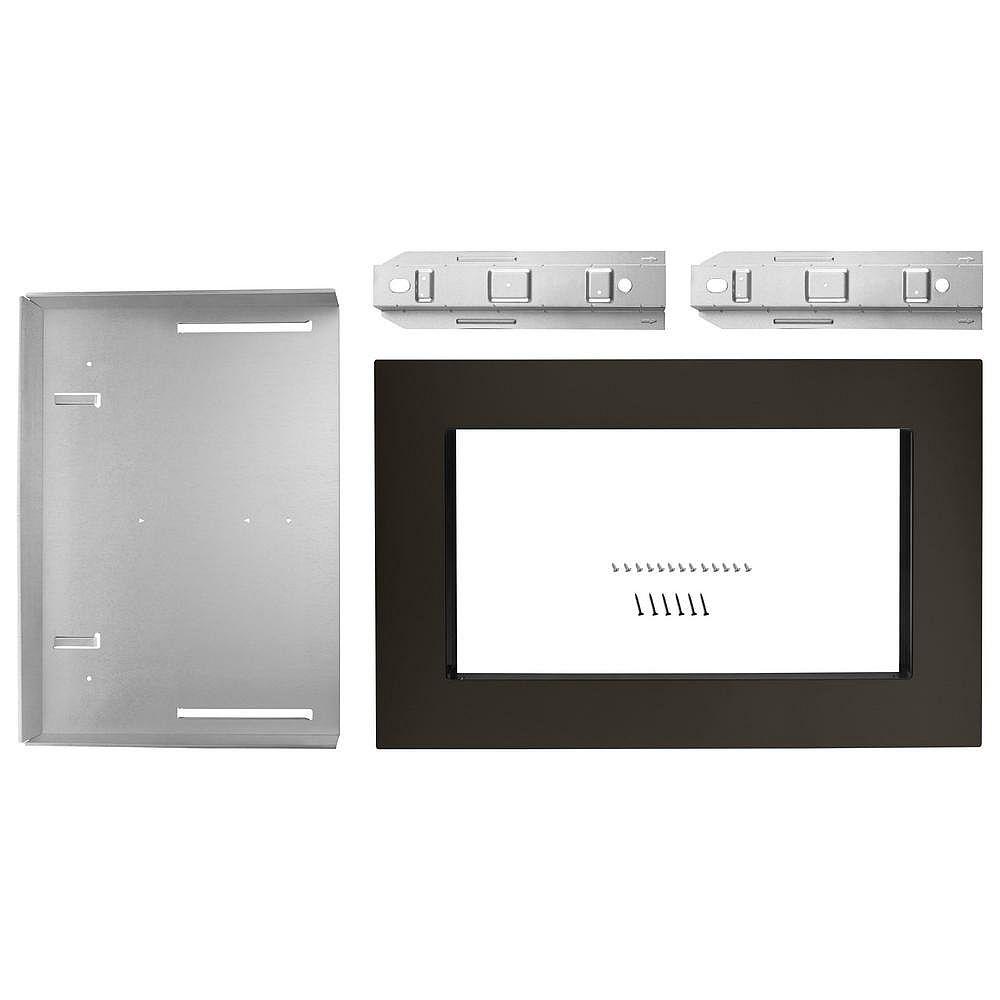Whirlpool Kit de garniture pour four à micro-ondes de 30 pouces en acier inoxydable noir