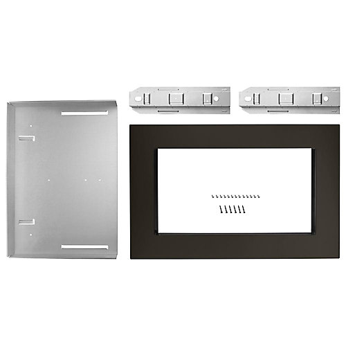 27-inch Microwave Trim Kit in Black Stainless Steel