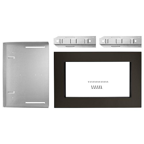 Kit de garniture pour four à micro-ondes de 27 po en acier inoxydable noir