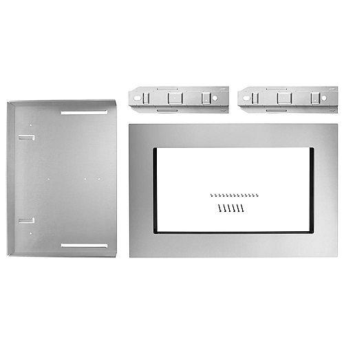 Kit de garniture pour four à micro-ondes de 27 po en acier inoxydable résistant aux empreintes digitales
