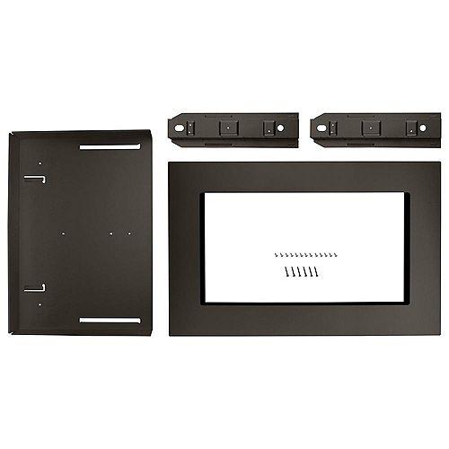 Kit de garniture pour four à micro-ondes de 30 pouces en acier inoxydable noir