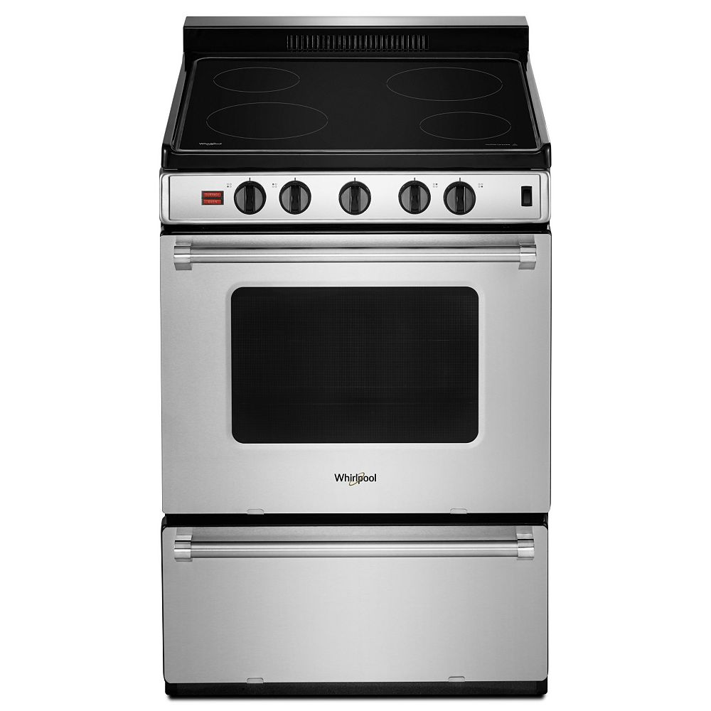 Whirlpool 24-inch W 3.0 cu. ft. Electric Range in Stainless Steel