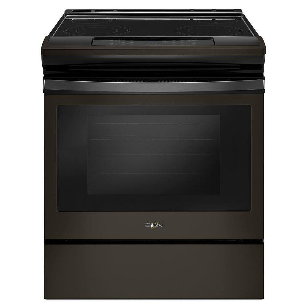 Whirlpool 4.8 cu.ft. Slide-In Electric Range with Self-Cleaning Oven in Black Stainless Steel