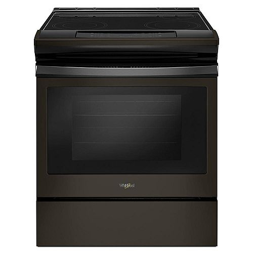 4.8 cu.ft. Slide-In Electric Range with Self-Cleaning Oven in Black Stainless Steel
