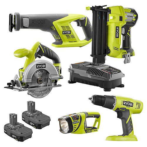18V ONE+ Cordless Combo Kit (5-Tool) with (2) 1.5 Ah Batteries