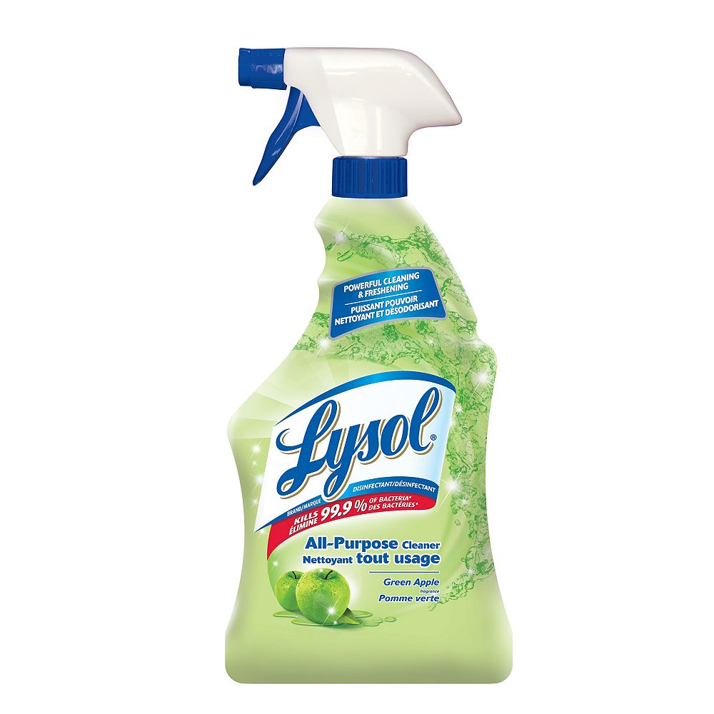 Lysol All Purpose Cleaner, Trigger, Green Apple, 650ml, Powerful Cleaning & Freshening