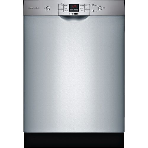 100 Series 24-inch Front Control  Dishwasher in Stainless Steel, Utility Rack, 50dBA Anti-Fingerprint ENERGY STAR®